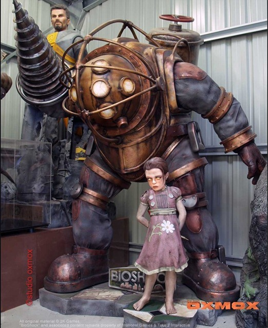 bioshock big daddy little sister statues