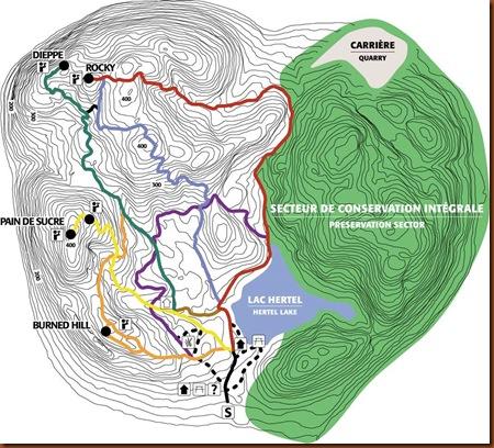 MSH. Carte des sentiers