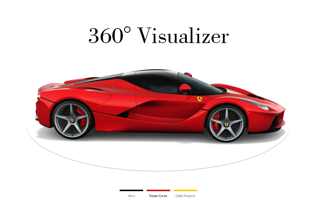 Laferrari visualizer goes online ferrari receives double Online visualizer