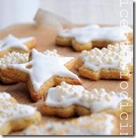 biscotti glassati per l'albero di natale