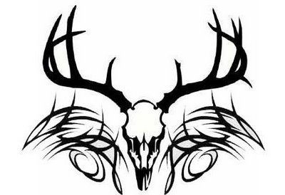 Tribal Deer Skull Tattoo Designs