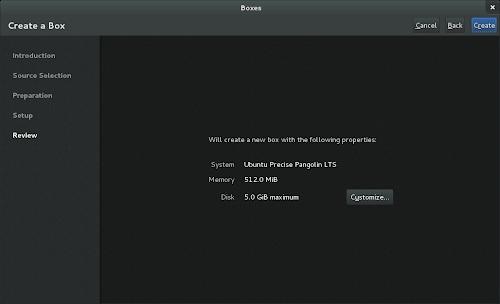 GNOME Boxes 3.6