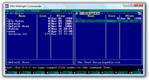GNU_Midnight_Commander_4.1.36_Windows_Vista