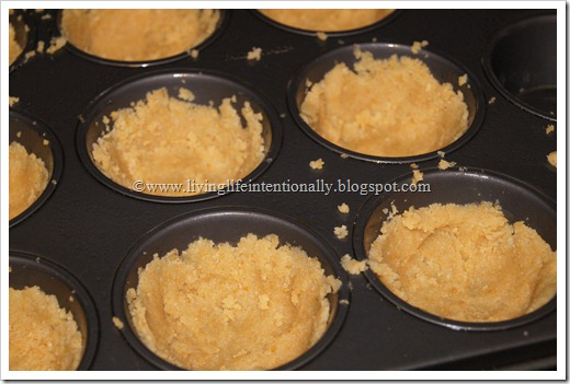 press in muffin tin