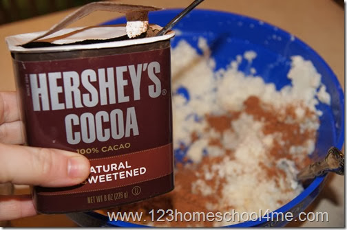 Chocolate snow Ice Cream with hershey's cocoa
