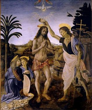 baptism christ verrocchio