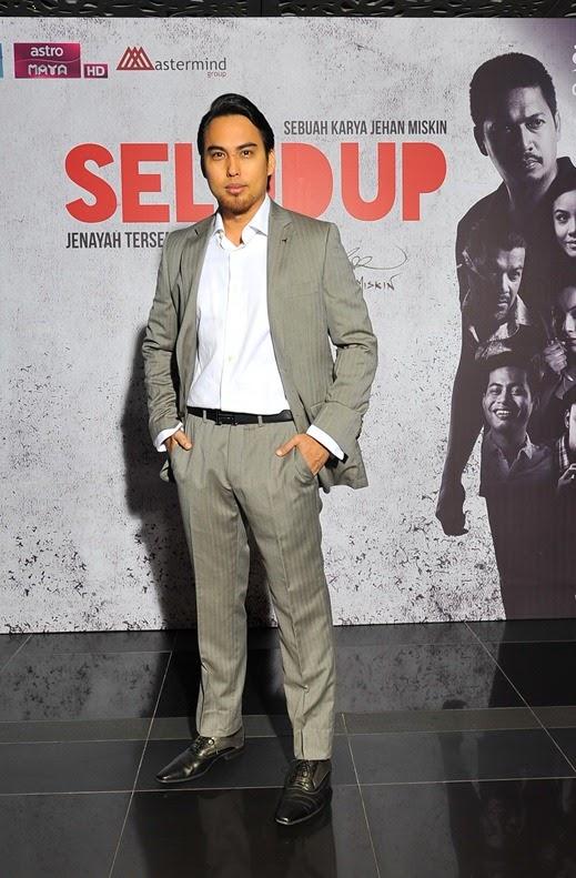 Jehan Miskin, Penerbit Eksekutif Mastermind Group Sdn Bhd dan Pengarah drama siri SELUDUP yang juga memainkan watak Din