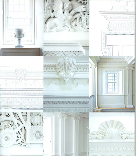 Roehm finds that classical architecture looks best in white.