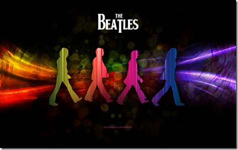 walpaper colorat-Beatles