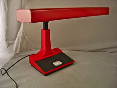 red Mobilite desk lamp