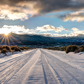 The Road Ahead by Max Moorman - Landscapes Sunsets & Sunrises