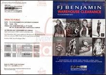 FJ Benjamin Warehouse Sale 2013 Malaysia Deals Offer Shopping EverydayOnSales