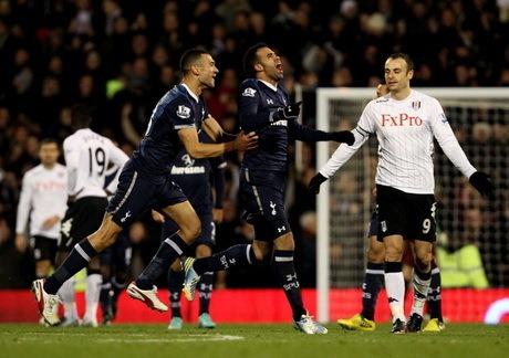 Hasil Fulham vs Tottenham Liga Inggris Sabtu 1 Desember 2012