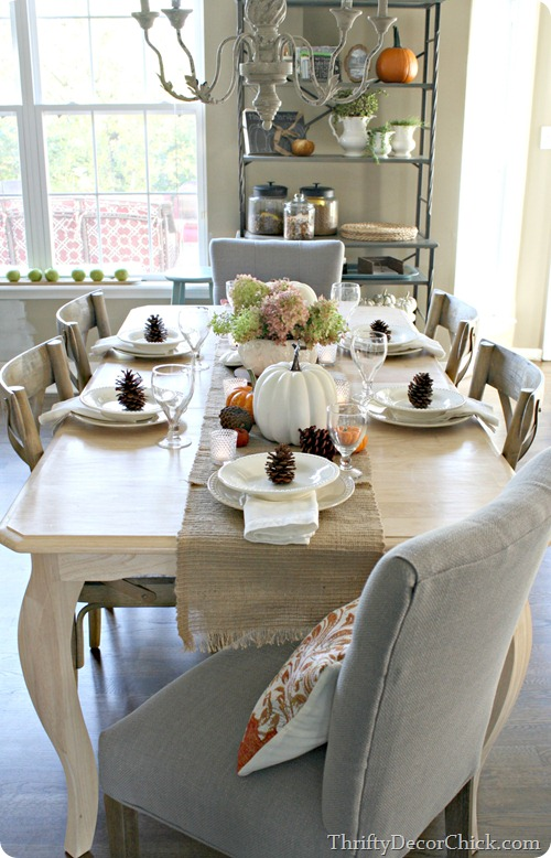 simple fall table setting