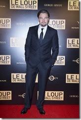"""Leonardo Di Caprio<br />Soiree de l'avant première mondiale du """"Loup de Wall-Street"""" auPalais Brogniard à Paris le 9 décembre 2013"""