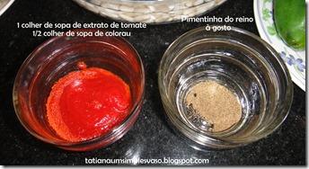 Extrato de tomate e pimenta do reino
