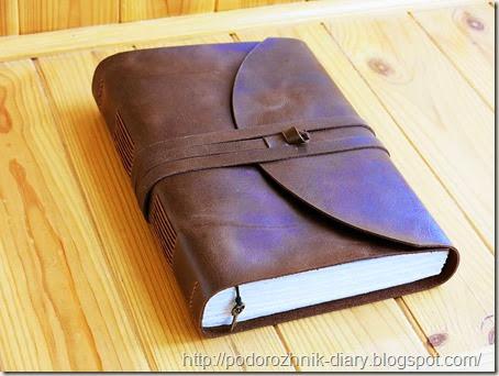 Винтажный кожаный блокнот-2