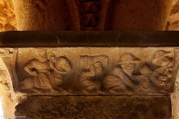 Capitells romànics, historiats, del claustre de la catedral de Tarragona,Tarragona, Tarragonès, Tarragona