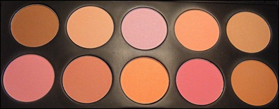 BH Cosmetics 10 Colors Blush Palette