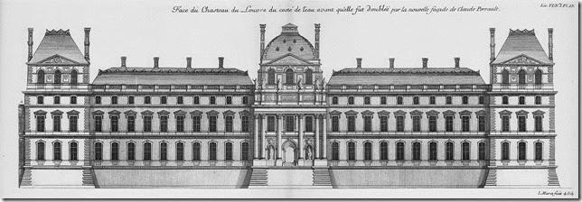 Louvre-Ancienne façade du côté de la rivière