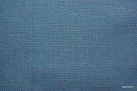 Ognioodporna tkanina dekoracyjna. Na zasłony, narzuty, poduszki, dekoracje. Styl naturalny, lniany. Niebieska.