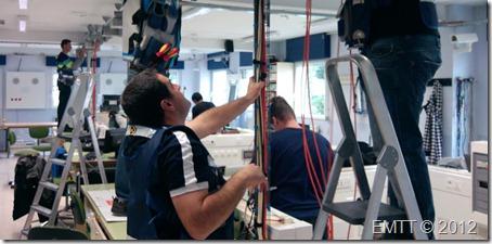 Pasando los cables de pares trenzados