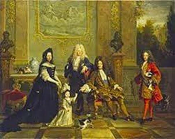Luis XIV y sus herederos.