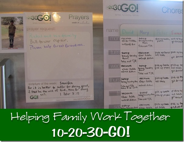 10-20-30-GO!  Helping Families Function Faithfully---review at Homeschooling Hearts & Minds