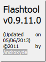 Flashtool 0.9.11.0 released