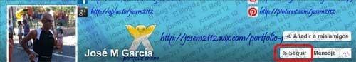 Seguir perfiles de Facebook - botón seguir en perfil de usuario de fb