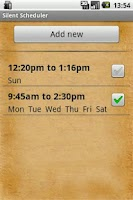 Screenshot of Silent Mode Scheduler