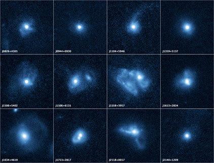 12 galáxias passando por acréscimo na formação estelar