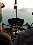 Sri m in HongKong - helicopter ride