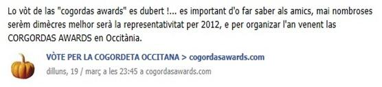 vòt de las cogordas awards