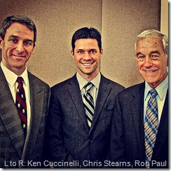 Left to Right: Ken Cuccinelli, Chris Stearns, Ron Paul