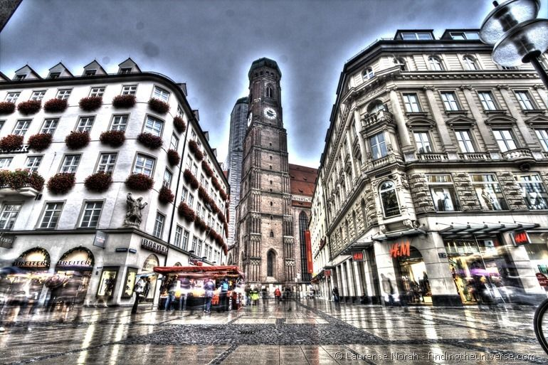 Munich in the rain HDR 1