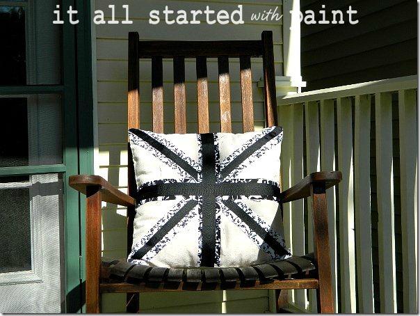 union_jack_pillow_black_and_white_porch