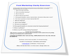 Food Marketing Clarity Exercises timforrest.com