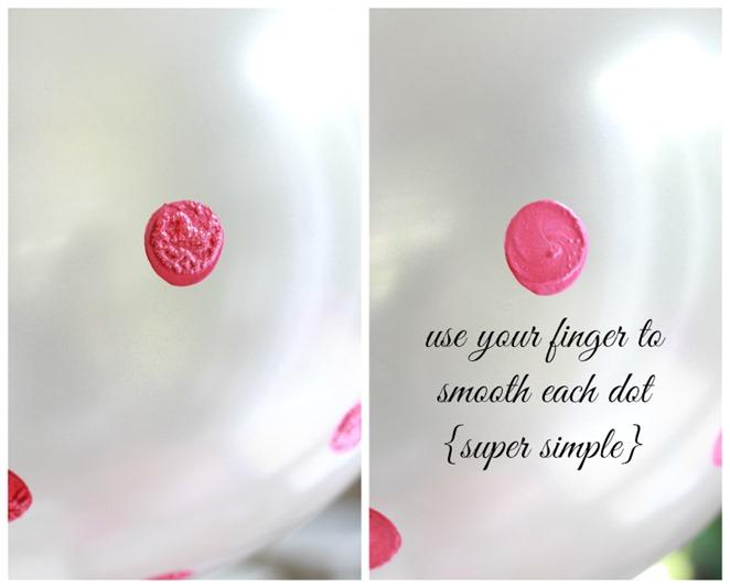 balloons pink polka dots
