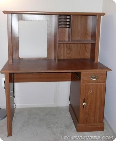 Simple old puter desk hutch makeover