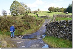 Hill top walk--some flooding