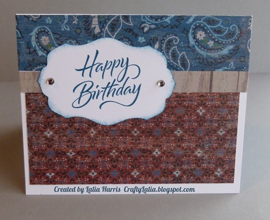 CraftyLalia  - A little country birthday card using Dakota & Joyful Birthday from CTMH