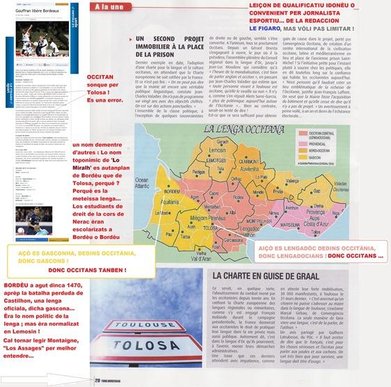 Informar Le Figaro de la dimension de Occitània