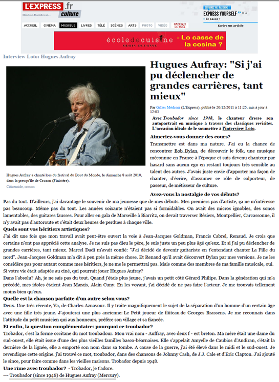 Aufray L'Express 211211