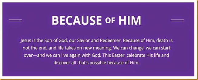 Image result for #becauseofhim