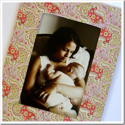 how to make a fabric picture frame