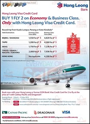 Hong Leong Bank Buy 1 Fly 2 Air Fare Promotion 2013 Branded Shopping Save Money EverydayOnSales