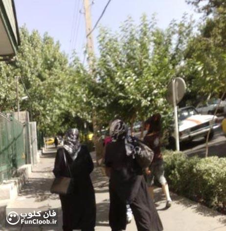 عکس دختر با شلوارک در خیابان های تهران