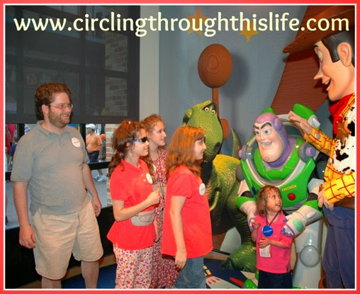 Meeting Buzz Lightyear at Disney World