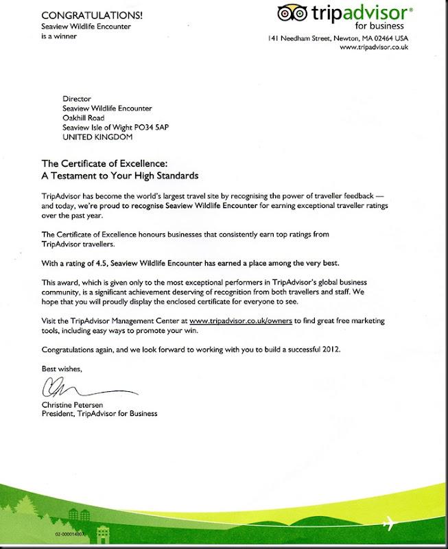 Trip Advisor Letter June 2012